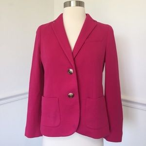 Talbots Pink Two Button Knit Blazer